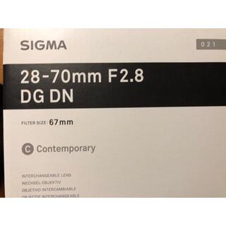 SIGMA - 28-70mm f2.8 DG DN ソニーEマウント用 シグマ sigma