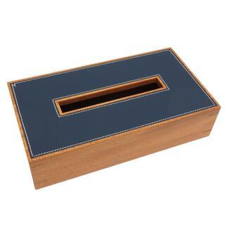 エルメス(Hermes)のエルメス  ティッシュボックス   ウッド  ブルーアガット ブラ(ティッシュボックス)