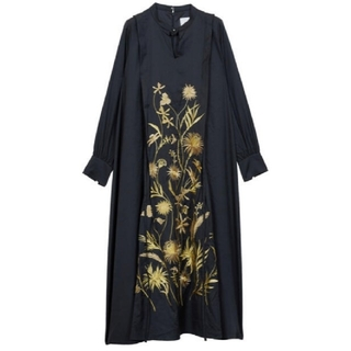 Ameri VINTAGE - 新品タグ付 MADELYN EMBROIDERY DRESS 黒 S アメリ