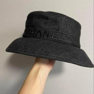 *素敵?★シャネル ★ロゴ バケットハット ブラック 黒 帽子 #20533