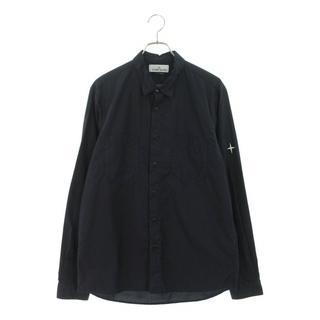 STONE ISLAND - ストーンアイランド ロゴ刺繍長袖シャツ L