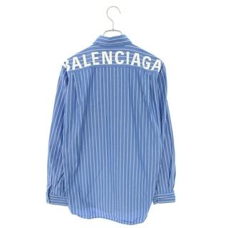 バレンシアガ(Balenciaga)のバレンシアガ 508485 TBM12 バックロゴストライプ長袖シャツ 37(シャツ)