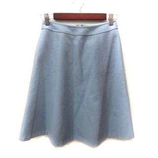 アナイ(ANAYI)のアナイ ANAYI フレアスカート ひざ丈 ウール 36 青 ブルー /YI(ひざ丈スカート)