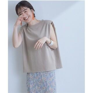 ヴィス(ViS)のショルダーパットフレンチTシャツ(Tシャツ(半袖/袖なし))