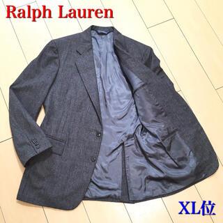 ポロラルフローレン(POLO RALPH LAUREN)の美品★ラルフローレン 極上グレーウィンドウペンチェック ジャケット 灰 A592(テーラードジャケット)