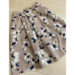 アクアガール(aquagirl)のAqua Marine フレア膝丈スカート(ひざ丈スカート)