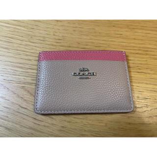 COACH - 【新品】コーチ COACH カードケース レザー ベージュ×ピンク 2843G