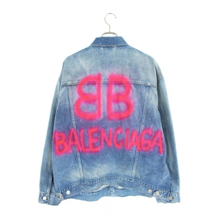 Balenciaga - バレンシアガ バックBBロゴオーバーサイズデニムジャケット XS