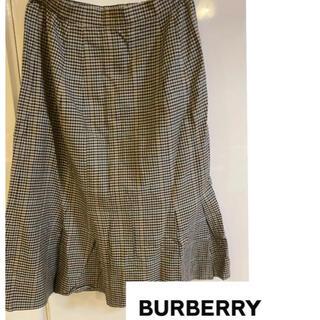 バーバリー(BURBERRY)のバーバリー チェック柄 スカート(ロングスカート)
