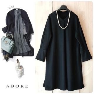 ADORE -  ◆幻◆秋冬美品 定価4.7万円 ADORE 雑誌掲載 シルキーウールワンピース