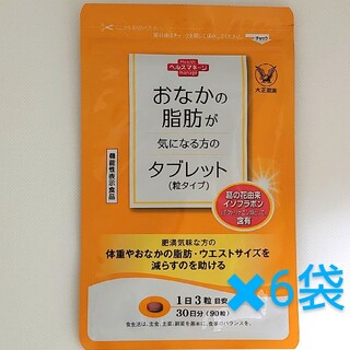 タイショウセイヤク(大正製薬)の大正製薬 おなかの脂肪が気になる方のタブレット(粒タイプ) 90粒入x6袋(ダイエット食品)