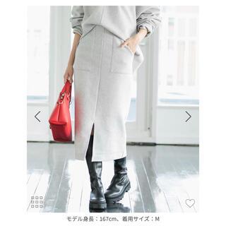 ViS - ViS 【Airy Warm】圧縮ニットソータイトスカート<セットアップ対応>