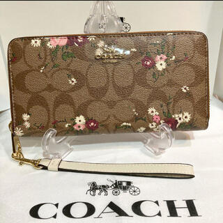 COACH - COACH 長財布C4456ストラップ付き 箱・紙袋付き