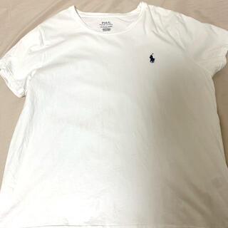 ポロラルフローレン(POLO RALPH LAUREN)のラルフローレン ロゴTシャツ 白 XL レディース(Tシャツ(半袖/袖なし))