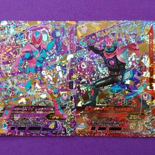カメンライダーバトルガンバライド(仮面ライダーバトル ガンバライド)のRM1弾LR仮面ライダーリバイ&バイス 2枚組(その他)