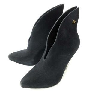 ヴィヴィアンウエストウッド(Vivienne Westwood)のヴィヴィアンウエストウッド メリッサ コラボ ブーティ 黒 USA 7 24cm(ブーツ)
