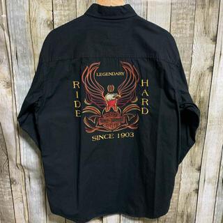 ハーレーダビッドソン(Harley Davidson)のHARLEYDAVIDSON  長袖シャツ 刺繍(シャツ)
