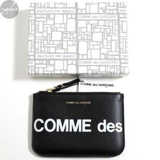 コムデギャルソン(COMME des GARCONS)の新品 コムデギャルソン ウォレット SA8100HL ヒュージロゴ 黒 財布 黒(その他)