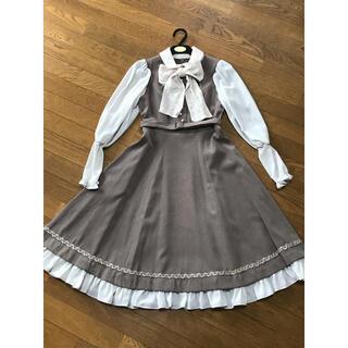 ヴィクトリアンメイデン(Victorian maiden)のマニエラノーブルリボンドレス victorian maiden(ひざ丈ワンピース)