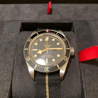 チュードル(Tudor)の美品 チューダー 58 ブラック ファブリックベルト(腕時計(アナログ))