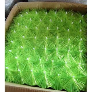 ロールブラシ(80cm、50本セット)緑色 ろ材 濾過 フィルター 大型 ブラシ(アクアリウム)