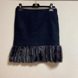 フェンディ(FENDI)の☆フェンディ ミンク スカート38 毛皮 ファー(ミニスカート)