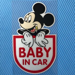 BABY IN CAR ★ ミッキー★車用ステッカー★ベビーインカー (その他)