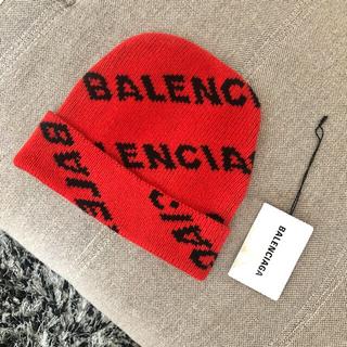 バレンシアガ(Balenciaga)のBALENCIAGA 国内正規 ロゴ 着用一回のみ ニットキャップ ビーニー(ニット/セーター)