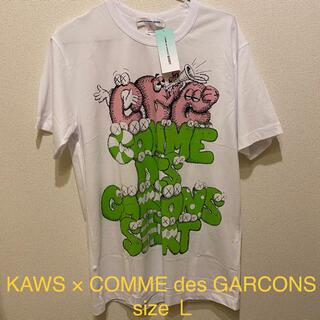 COMME des GARCONS - 新品 KAWS × COMME des GARCONS  Tシャツ Lサイズ