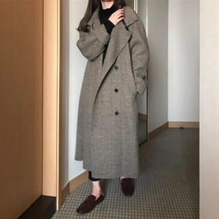 トゥデイフル(TODAYFUL)の【美品】ponpon herring wool long coat(ロングコート)