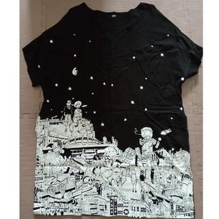 Design Tshirts Store graniph - グラニフ×松本大洋  ひざ丈ワンピース