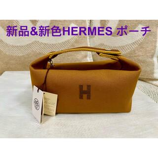 Hermes - 新品 新色 エルメス ブリッド・ア・ブラック ポーチ PM  ゴールド