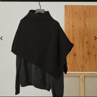 新品 RIM.ARK Deformation mini poncho BLACK