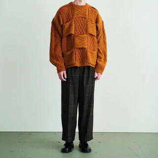 1LDK SELECT - YOKE 20AW CROSSING CABLE CREW NECK KNIT