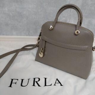 Furla - 美品✨FURLA フルラ ショルダーバッグ パイパー 2way グレー