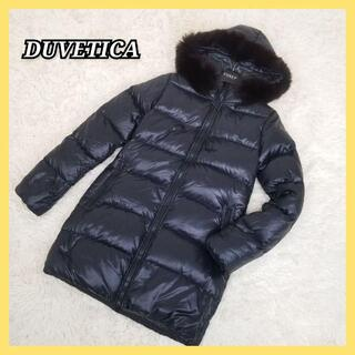 DUVETICA - ☆美品☆ DUVETICA ダウンコート  フォックスファー 大きめ ブラック