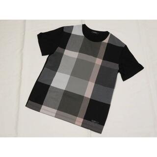 BLACK LABEL CRESTBRIDGE - ブラックレーベル クレストブリッジ 半袖デザインカットソー M 黒地