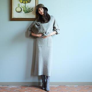 Mila Owen - 袖ボリュームニットスカートセットアップ