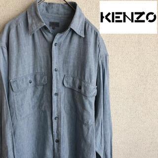 ケンゾー(KENZO)の90s KENZO 長袖 リネン シャツ 麻 ケンゾー 90's 古着(シャツ)