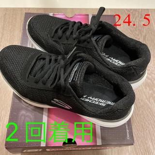 SKECHERS - スケッチャーズ  24.5 LITE WEIGHT ブラック