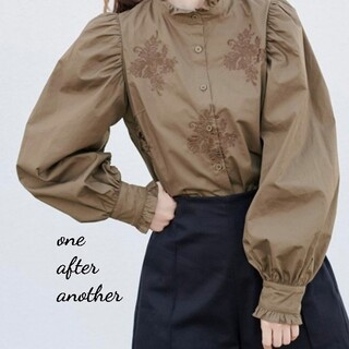 one after another NICE CLAUP - 新品 one after another プチハイ刺繍ブラウス