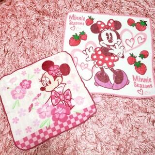 Disney - ディズニー ミニー タオルハンカチ 2枚セット
