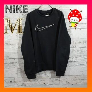 NIKE - NIKE ナイキ 刺繍ビックロゴ 黒 スウェット トレーナー M