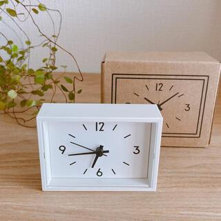 MUJI (無印良品) - 無印良品  駅の時計ミニ  新品未使用  小さくて可愛い!裏にマグネット付き