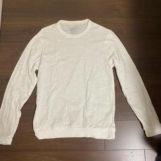 ムジルシリョウヒン(MUJI (無印良品))の無印良品 ムラ糸天竺編み長袖Tシャツ紳士M・オフ白 2枚セット(Tシャツ/カットソー(七分/長袖))