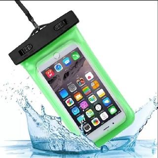 ●スマホ防水バック(緑色)1個のコミコミ価格●タッチ操作可能タイプ、釣人遭難OK(モバイルケース/カバー)