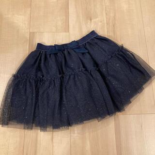 エイチアンドエム(H&M)のH&M チュールスカート フリルスカート ネイビー 100 110(スカート)