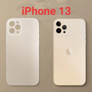 iPhone - 新品未使用iPhone13用0.3㎜超薄型ケースクリアホワイト