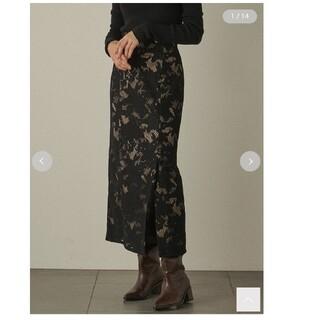 リリーブラウン(Lily Brown)のLILY BROWN スリットレースタイトスカート(ロングスカート)