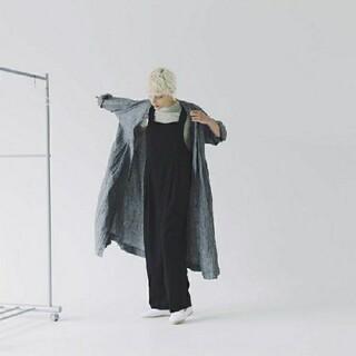 nest Robe - ☆nest Robe ネストローブ リネンタックサロペット ネイビーused☆